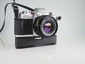 CANON AV-1 35MM FILM MANUAL CLASSIC SLR CAMERA + 50MM F1.8 FD LENS