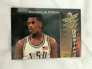 SHAQUILLE ONEAL LSU UNIVERSITY ROOKIE INSERT IMPACT 2005 PIX BASKETBALL CARD