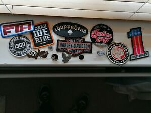 Biker Patches And Pins Harley, Indian Larry, Indian Etc