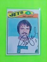 SIGNED 1977 Topps #267 Pat Leahy Jets Autograph