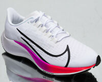 Nike Air Zoom Pegasus 37 Men's White Black Hyper Violet Running Jogging Shoes