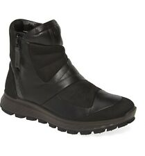 Womens Ecco Exostrike Hydromax Waterproof Zip Boot Ankle Booties Black 8 $200