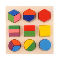 Intellectual Geometry Toy Early Educational Kids Toys Building Block Wooden S SS