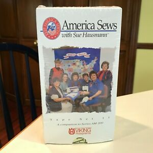 Sue Hausmann America Sews Lot of Four (4) VHS Video Tapes New Sealed