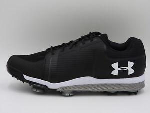 UA Under Armour Tempo Sport Golf Shoes 1288576-001,Black,Men's 8.5