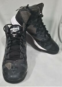 Size US 8  eu 41 mens AND1 Xcelerate 2 basketball shoes lace black grey sneaker