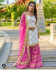 Indian pakistani kurti palazo Suit ethnic dress wedding Salwar Kameez party wear