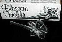 Vintage Pilgrim Glass Blossom Holder Bud Vase In Original Box Handmade Blown USA