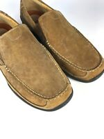 CLARKS MENS TAN LEATHER SLIP ON SHOES SIZE UK8.5 EUR42.5 US9.5