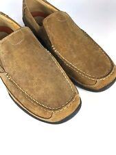 Clarks Hombre Mocasín Piel Marrón Claro Zapatos Talla Uk8.5 EUR42.5 US9.5