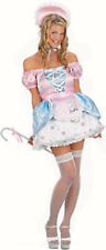 Ladies Little Bo Peep & Staff Fancy Dress Costume 80s Nursery Rhyme NEW 10 12