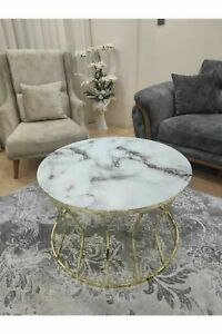 Center Table Hourglass Big Coffee Tables Marble Patterned Unbreakable Glass Desk