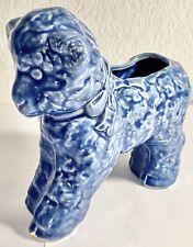 Vintage Ceramic Blue Sheep Lamb Pen Holder