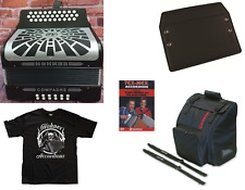 Hohner Compadre MAKE OFFER GCF Sol Black Acordeon Accordion +DVD_Bag_T-Shirt_Pad