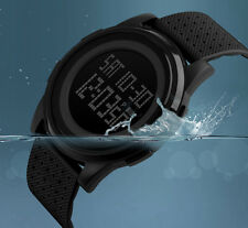 Waterproof Sport Mens Date Week Alarm Ultra-thin Digital Quartz Wrist Watch