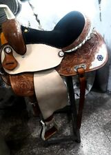 """15""""western tack pleasure cowboy rodeo leather horse saddle,headstall,breastplate"""