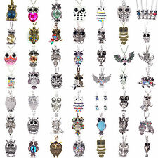Wholesale Lots Mixed 50 Various Designs Owl Pendants Necklaces Charm Fashion
