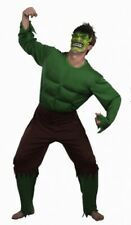MEN'S ADULT GREEN GIANT OUTFIT HALLOWEEN EVIL SCARY FANCY DRESS PARTY COSTUME