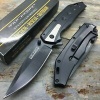 TAC-FORCE Thick Blade Spring Assisted Survival Camping Rescue Pocket Knife