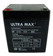 ULTRAMAX NP5-12, 12V 5Ah (comme 4Ah & 4.5 Ah) Microcat appât bateau batterie