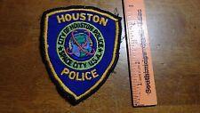 VINTAGE V HOUSTON TEXAS POLICE  DEPARTMENT OBSOLETE  PATCH BX 11#9