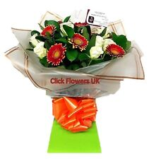 FRESH REAL FLOWERS  Delivered Rose & Gerbera All Occasions Selection Bouquet