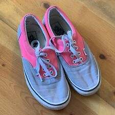 Vans Off The Wall Sneakers, Size 7.5, Pink, Gray, Lace Up