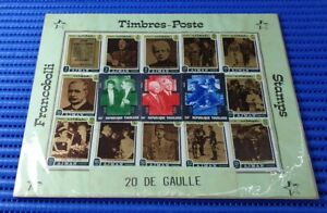 12X Ajman & 3X Togolaise General De Gaulle Commemorative Used Stamps