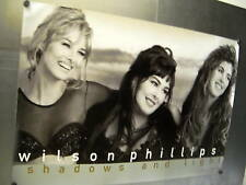 Wilson Phillips Large Rare 1992 Promo Poster Shadow And Light mint condition