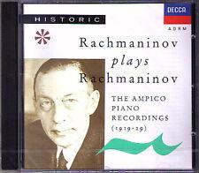 RACHMANINOV Plays RACHMANINOFF Ampico Piano 1919-29 CD Flight of the Bumble-Bee