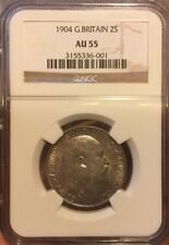 GREAT BRITAIN EDWARD VII 1904 FLORIN CHOICE UNCIRCULATED CERTIFIED NGC AU55