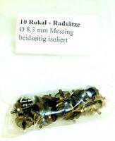 10x Rokal Engrenages 8,3mm Diamètre Laiton Isolé sur les Deux Côtés 1:120 Tt Å