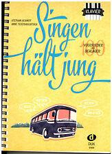 Klavier Noten : Singen hält jung - Volkslieder und Schlager - leicht
