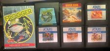 Atari 5200 Lot Frogger (with box) Football Baseball River Raid Soccer Galaxian