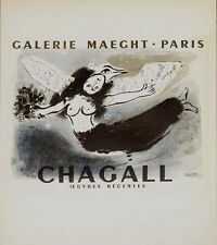 MARC CHAGALL- WOMAN-BIRD (1950) AFFICHE- PRINTED IN 1966-NO RESERVE