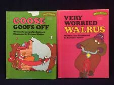Lot of 2 Sweet Pickles Hardcover Books-Goose Goofs Off and Very Worried Walrus