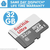 32GB SanDisk  Ultra 80MB/s Class 10 UHS-I Micro SD SDHC Memory Card