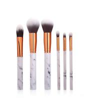 6 Pcs Marble Kabuki Makeup Brush Set Blusher Face Powder Brushes Eyeshadow