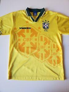 Vintage Umbro Brazil 1994 World Cup Home Soccer Jersey Men Size L