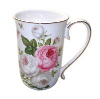 Fine Bone China  Butterfly Rose Coffee Tea Mug w Handle Cup 405cc In Box Gift