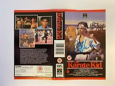 More details for the karate kid ralph macchio signed vhs cover with photo proof + original tape