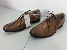 a9989beb4d9 Merona Men s Theo Dress Shoe Cognac Light Brown Black Bottom Outline Sz. 9