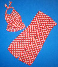 Vintage Barbie BEST BUY Red & White Dots Halter Top & Matching Pants #7813 1974
