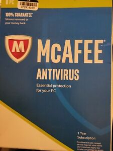 Brand NEW & SEALED! McAfee Antivirus 2017 1 PC 1 year
