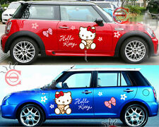 2pcs Cute Hello Kitty Car Door Mirror Hood Motors Girls Vinyl Decal Sticker New