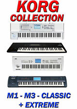 KORG M1, M3, TRITON CLASSIC + EXTREME SAMPLES- ALL SAMPLES IN WAV FORMAT- 42 DVD