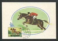 SAN MARINO MK 1966 REITSPORT REITEN PFERD HORSE CARTE MAXIMUM CARD MC CM d8511