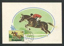 San marino Mk 1966 equitación montar a caballo caballo Horse Carte maximum card mc cm d8511
