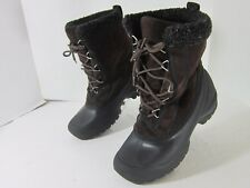 Women's SOREL TIVOLI II WATERPROOF SUEDE SNOW BOOTS size 8 black/brown