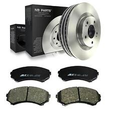 2x Brake Disc Vented 290mm + Brake Pads Front Mitsubishi Grandis Na _W